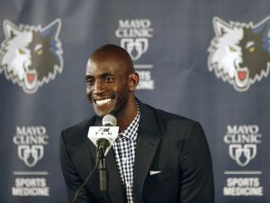 KG is back in Minnesota, where it all began. (photo courtesy of www.sctimes.com)