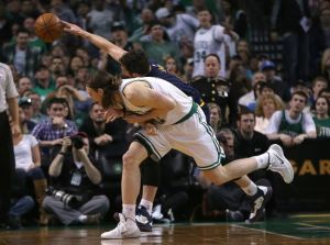 The battle for a rebound ends ugly for Kevin Love(photo courtesy of www.thesudburystar.com)