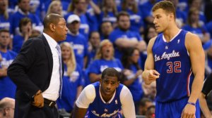 Doc, Chris Paul and Blake Griffin having a meeting of the minds. (photo courtesy of www.rappler.com)