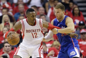 Dwight Howard will have to step up for the Rockets to win. Can he match Blake Griffin in production? (photo courtesy David J. Phillip from the Associated Press)