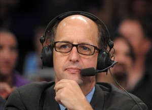 Jeff Van Gundy is on the list of coaches New Orleans is looking at to coach. So, what would he look like as the Pelicans coach? (photo courtesy of www.lakernation.com)