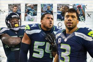 Russell Wilson and Bobby Wagner highlighted the 2012 Seattle draft class (photo courtesy of www.seahawks.com)