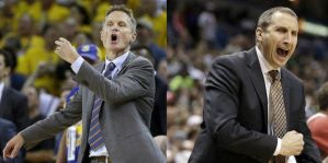 David Blatt and Steve Kerr have added to this series with their adjustments and lack of them as well. (photo courtesy of the AP)