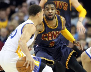 Steph Curry versus Kyrie Irving will be something to keep an eye on, especially with the health of Irving. (photo courtesy of www.cleveland.com)