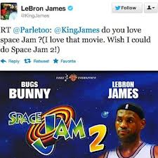 Sounds like LeBron James was very interested in doing a Space Jam sequel when he put out this Tweet (of course LeBron did not include the Space Jam 2 picture with it folks)