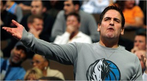 Mark Cuban is playing the victim, but he is not so innocent here. (photo courtesy of www.awfulannouncing.com)