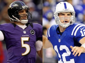 Can Joe Flacco and/or Andrew Luck lead their teams to the playoffs after an 0-2 start? (Photo courtesy of Thomas J. Russo/US Presswire)