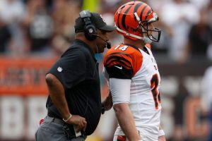 Marvin Lewis and Andy Dalton's futures may be tied together in the success or failure of the Bengals. (photo courtesy of Raj Mehta/USA TODAY Sports)