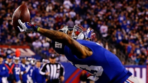 Odell Beckham Jr's amazing catch has drawn the ire of the NFL competition committee. (photo courtesy of Al Bello/Getty Images)