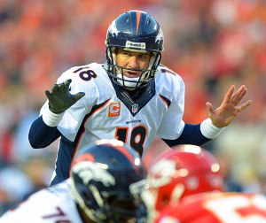 Peyton Manning is trying to calm down the noise surrounding him, but it will only pick up with each performance. (photo courtesy of CBS Sports)