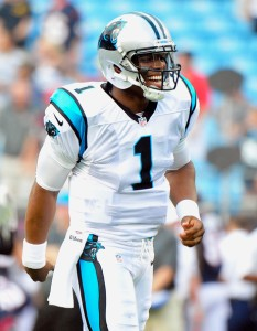 Cam Newton and the Carolina Panthers are looking to stay on a roll versus the Philadelphia Eagles (photo courtesy of Grant Halverson/Getty Images)