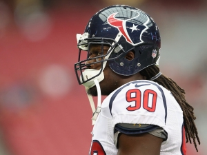 Jadeveon Clowney may be frustrated, but so is Houston.(Photo by Christian Petersen/Getty Images)