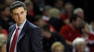 Rick Pitino could be on the hot seat after details of strippers and more at Louisville. (photo courtesy of Andy Lyons/Getty Images)