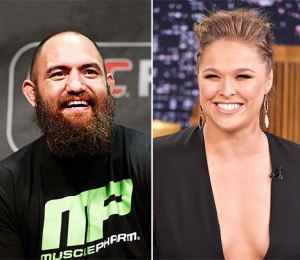 The two UFC fighters are now officially confirmed as a couple. But what challenges does this relationship pose to Rousey? ( photo courtesy of Theo Wargo/Getty Images)